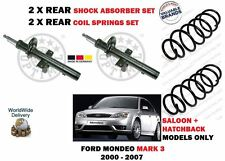 FOR FORD MONDEO MARK 3 2000-2007 NEW 2X REAR SHOCK ABSORBER SET + 2 COIL SPRINGS