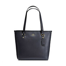 Coach Bag F36632 Midnight Crossgrain Zip Top Tote Leather MIdnight Agsbeagle COD