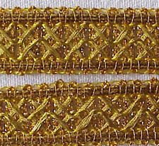 10 Yards. Metallic Ribbon Trim. Gold