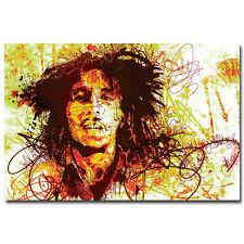 Bob Marley Art Wall Silk Poster Print 13x20 inch