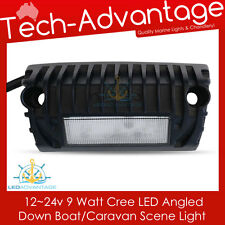 12V/24V 9W ANGLED SURFACE MOUNT LED SCENE AWNING LIGHT 500 LUMENS BOAT/CARAVAN