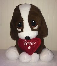 Sad Sam Honey Dan Dee Large Plush Dog Love Heart Stuffed Toy Bassett Hound 12""