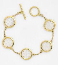 LAUREN Ralph Lauren 'Jaipur' Mother Of Pearl Openwork Gold-Tone Toggle Bracelet
