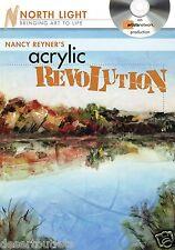 NEW! Nancy Reyner's Acrylic Revolution: Watercolor & Oil Effects [DVD]