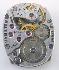 Hamilton Wristwatch Movement  - Grade 750 - Sold for Parts / Repair