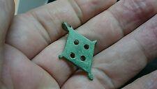 Beautiful bronze Roman seal box pendant missing half loop L116
