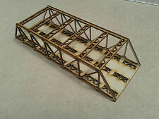 Laser Cut N Gauge Double Track Braced Girder Bridge Kit 3mm MDF 28cms Long