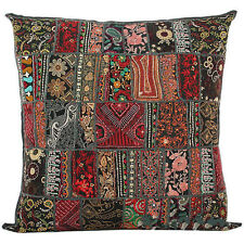 20X20 Large Decorative Vintage Throw pillow, Embroidered Accent  Outdoor Pillow