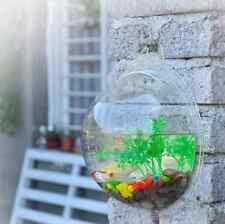 Wall Mounted Fish Tank Bowl Bubble Aquarium Hanging Terrarium Goldfish Betta Ne