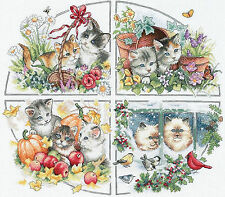 Cross Stitch Kit ~ Gold Collection Four Seasons Kittens Cats #35154