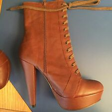 OFFICE VICTORIAN-STYLE LACE UP ANKLE BOOTS (NEW) 6/39
