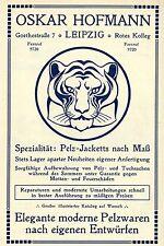 Oskar Hofmann Leipzig ELEGANTE MODERNE PELZWAREN Historische Reklame von 1908