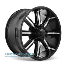 """22"""" Dcenti DW903 Black Wheels for Dodge Ford GMC Hummer Lincoln Rims"""