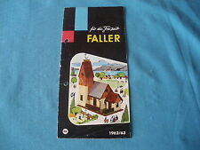 467 H FALLER 1962/63  DEPLIANT 12 PAGES MAISONS AVIONS MAQUETTES FIGURINES...