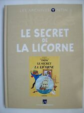 archives Tintin le secret de la licorne Hergé éditions Moulinsart 2010 TBE