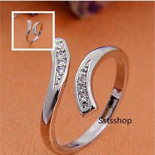 Fashion Australia Rhinestone Open Adjustable Silver Rings Jewelry