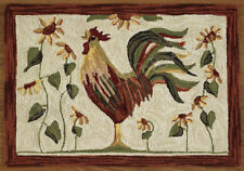 """Rooser Hooked Rug, 24"""" x 36"""", by Park Designs, Hand-hooked Design"""