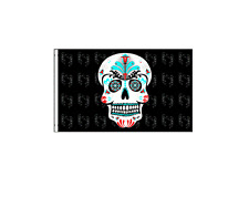 """Sugar Skull Replacement Flag for ATV or Bicycle 12 X 18"""" long"""