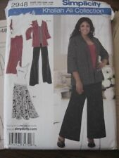 PLUS SIZE 26 28 30 32W sewing pattern Khaliah Ali Collection Simplicity top pant