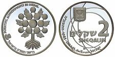 ISRAELE/ISRAEL 2 SHEQALIM 1985 (SCIENTIFIC ACHIEVEMENT)ARGENTO/SILVER PROOF#912A