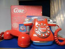 COCA-COLA SNOW DOME TELEPHONE with extra Red handset included.