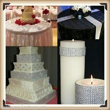 SILVER Diamante Bling Sparkling Diamond Effect Wedding Cake Craft Ribbon Mesh