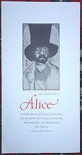 BARRY MOSER Broadside Alice in Wonderland MAD HATTER Pennyroyal Press 1982 a