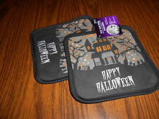 Halloween Pot Holder Set-Happy Halloween-Haunted House -NEW