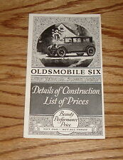 Original 1926 Oldsmobile Details of Construction List of Prices Brochure 26