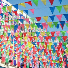 Hot Party Rainbow Bunting Large Kids Birthday OutdoorFlags Banner Multi Colored