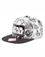 Official Licensed Star Wars White Graphic Metal Plate Retro Gamer Snapback Cap