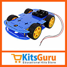 Smart Car Chassis 4WD / Racing Car / Robot Car Chassis / Wheels / Motors KG375
