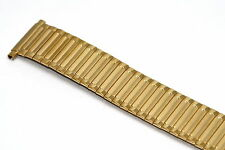 18-22MM EXTRA LONG GOLD STAINLESS STEEL TWIST O FLEX EXPANSION WATCH BAND STRAP
