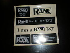 Official Rane Custom  DJ Sticker Sheet turntable lab vinyl rane vestax