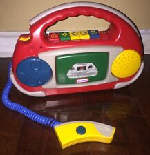 1995 Vintage Little Tikes Kids Cassette Tape Player Recorder Microphone Boom Box