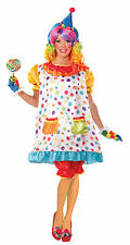 Adult Wiggles the Clown Costume Hoop Dress Circus Womens Size XLarge