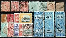 Antigua ex. Kat. 2-110 used / MH * 1863/1953 Victoria & Edward VII & George V
