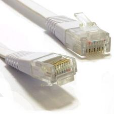 30m Plana Cat6 Ethernet LAN cable de parche de bajo perfil Gigabit Rj45 Blanco