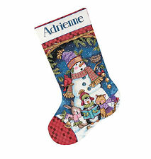 Cross Stitch Kit ~ Dimensions Cute Carolers Animal Xmas Stocking #8751