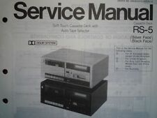 TECHNICS RS-5 RS-M24 Cassette tape Deck Service manual wiring parts diagram