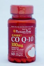Puritan's Co Q-10 COQ-10 100mg 60 gels Promotes Cardiovascular & Heart **NEW**