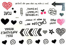 Hot Waterproof Colorful Removable Temporary Tattoo DIY Heart Love Sticker