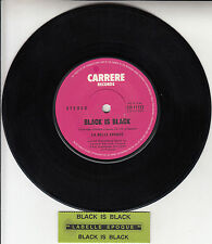 "LA BELLE EPOQUE  Black Is Black 7"" 45 rpm vinyl record + juke box title strip"