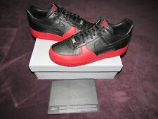 NIB NIKE AIR FORCE 1 FUSION JORDAN 12 LOW BRED SIZE 13 BLACK RED NEW IN BOX