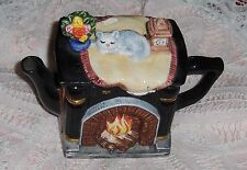 Vtg Whittard Of Chelsea Cat Tea Pot Miniature Sleeping Kitten Pitcher Creamer