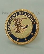 US Department of Justice Hat Lapel Pin