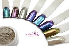 cromo Polvere ARGENTO spiegleffekt cromo Powder nail art cromo
