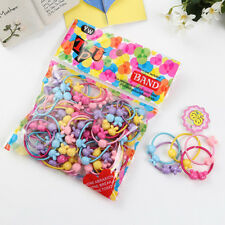 For Kids 50pcs Mixed Color Elastic Rubber Hair Ties Band Rope Ponytail Holder RI