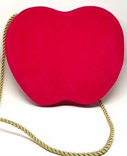 Nina Ricci Authentic Shoulder Tote Apple Purse Handbang Pink Red Bag Clutch New