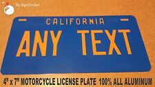Personalized California Custom Novelty State License Plate, VINTAGE REPLICA 6X12